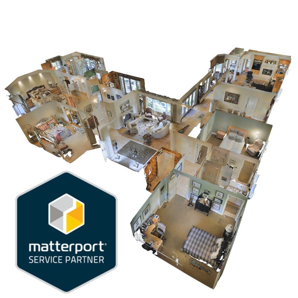 3d dollhouse view of a home using matterport technology